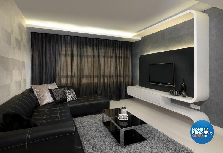 Contemporary, Modern Design - Living Room - HDB 5 Room - Design by Space Vision Design Pte Ltd