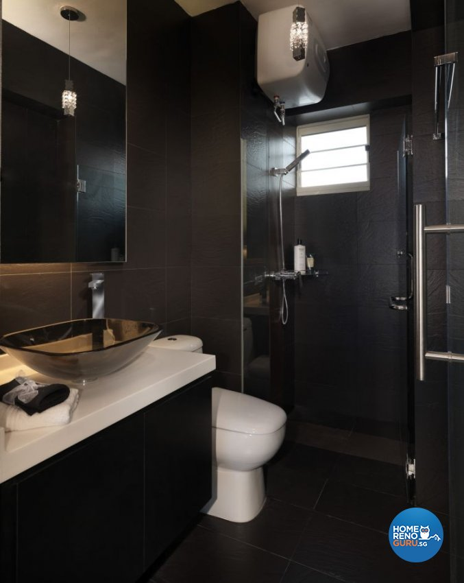 Contemporary, Modern Design - Bathroom - HDB 5 Room - Design by Space Vision Design Pte Ltd