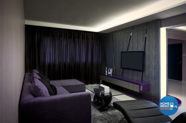 Contemporary, Modern Design - Living Room - HDB 5 Room - Design by Space Vision Design Pte Ltd