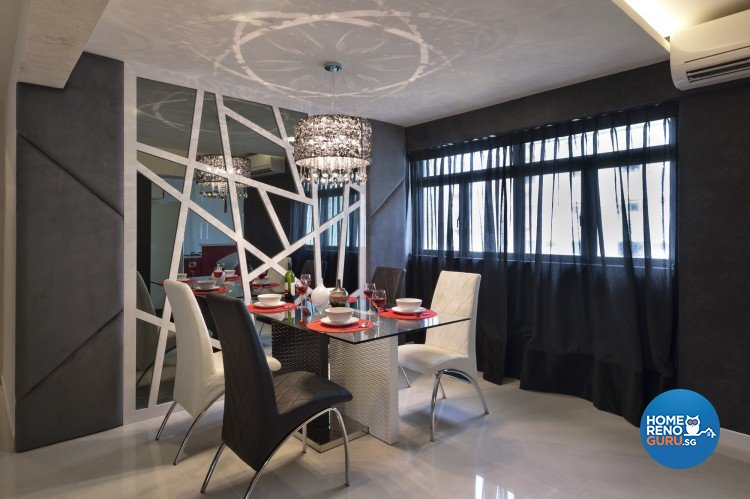 Contemporary, Modern Design - Dining Room - HDB 5 Room - Design by Space Vision Design Pte Ltd