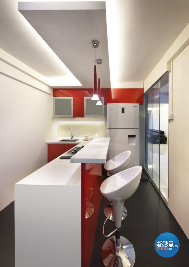 Contemporary, Modern Design - Kitchen - HDB 5 Room - Design by Space Vision Design Pte Ltd