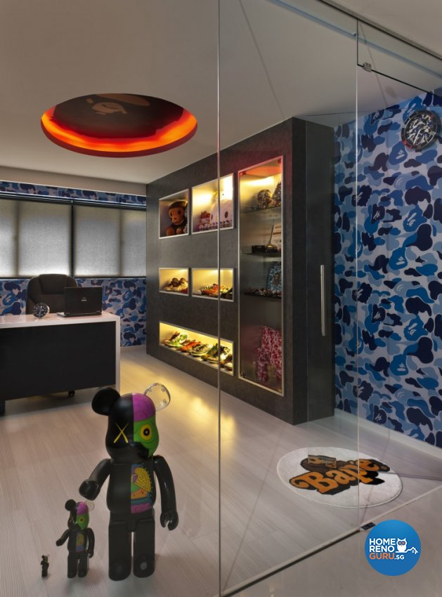 Contemporary, Modern Design - Study Room - HDB 5 Room - Design by Space Vision Design Pte Ltd
