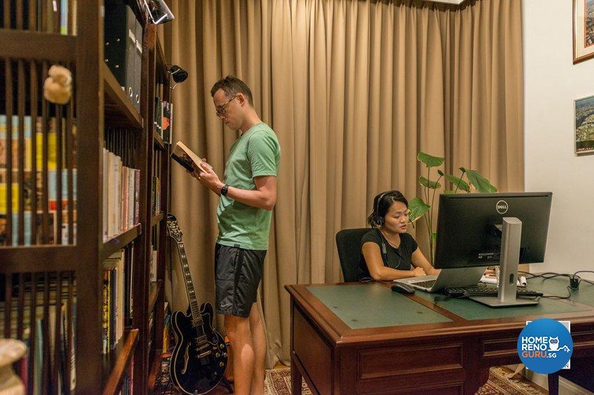 Contemporary, Country, Resort Design - Study Room - Condominium - Design by Space Vision Design Pte Ltd