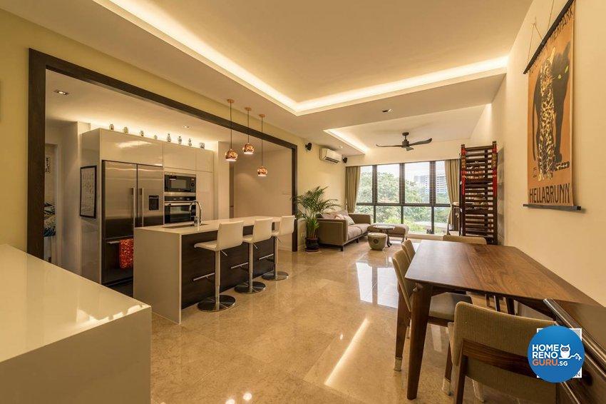 Contemporary, Country, Resort Design - Living Room - Condominium - Design by Space Vision Design Pte Ltd