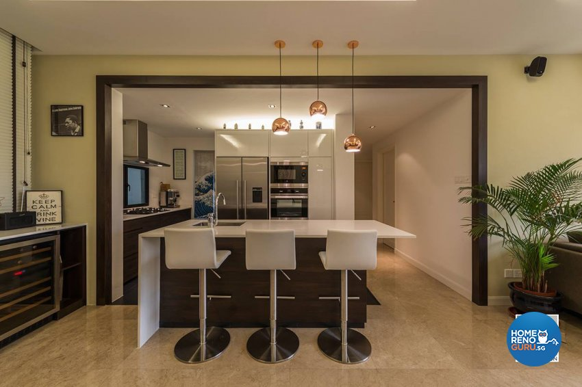 Contemporary, Country, Resort Design - Kitchen - Condominium - Design by Space Vision Design Pte Ltd