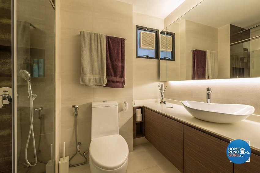 Contemporary, Country, Resort Design - Bathroom - Condominium - Design by Space Vision Design Pte Ltd