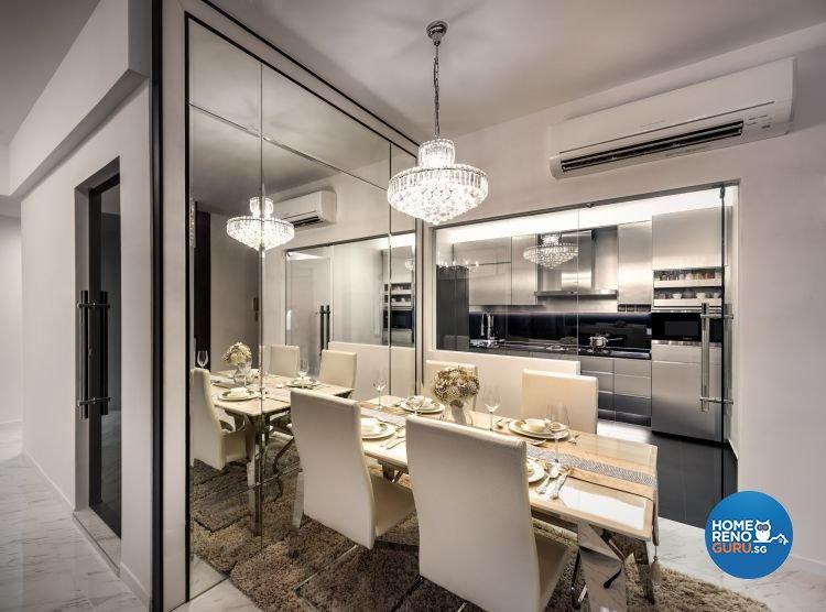 Classical, Modern Design - Dining Room - Condominium - Design by Space Vision Design Pte Ltd