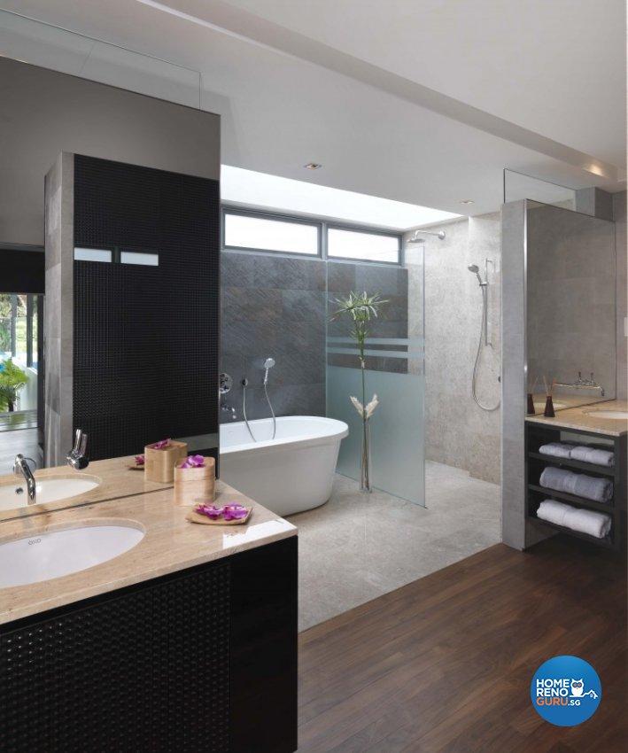 Contemporary, Modern Design - Bathroom - Landed House - Design by Space Vision Design Pte Ltd
