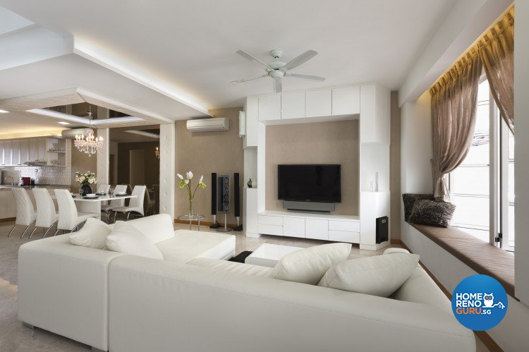 Classical, Contemporary Design - Living Room - Landed House - Design by Space Vision Design Pte Ltd