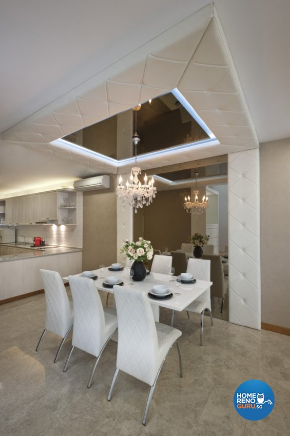 Classical, Contemporary Design - Dining Room - Landed House - Design by Space Vision Design Pte Ltd