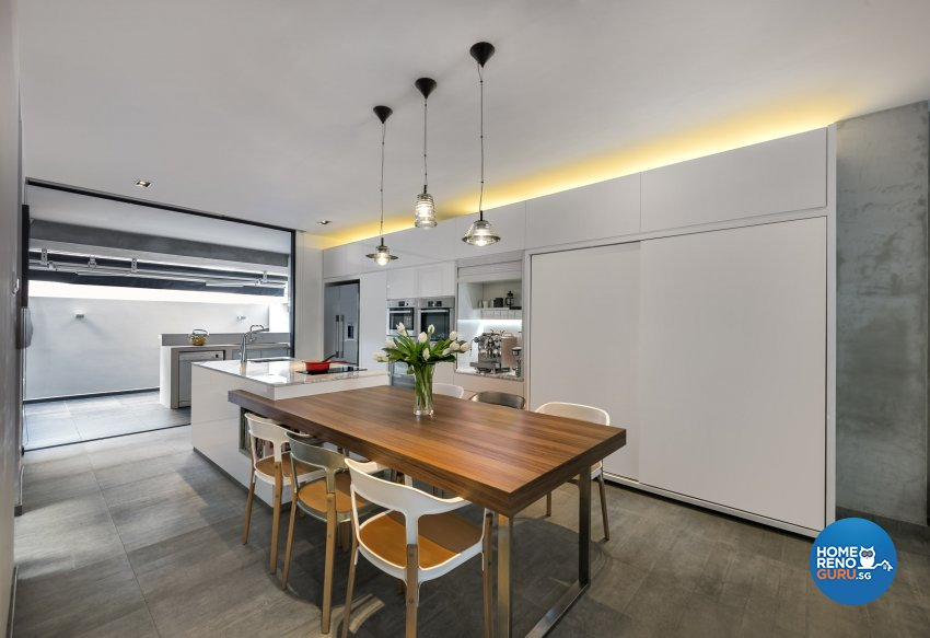 Industrial, Scandinavian Design - Kitchen - Landed House - Design by Space Vision Design Pte Ltd