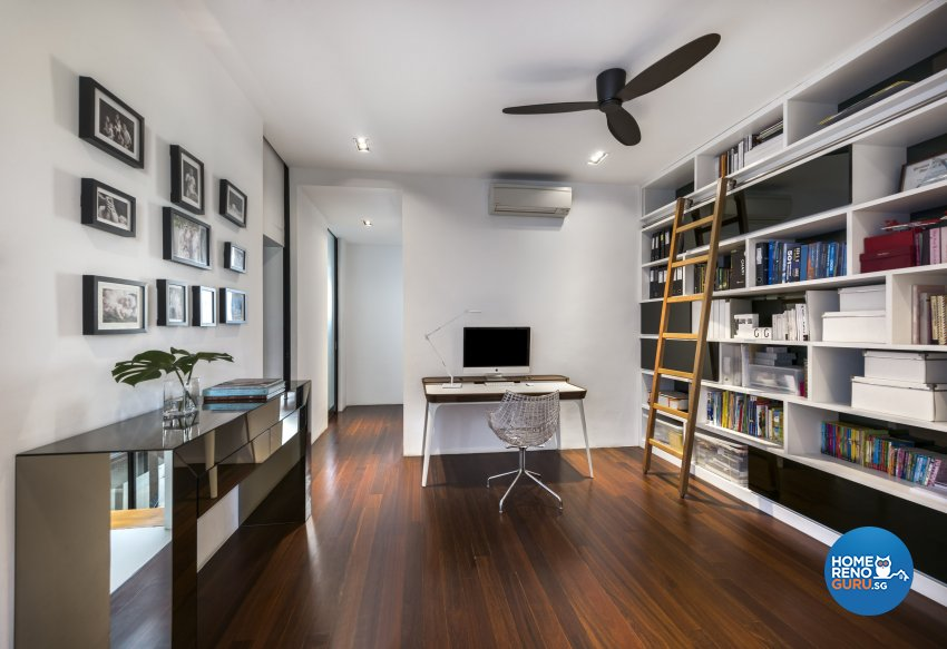 Industrial, Scandinavian Design - Study Room - Landed House - Design by Space Vision Design Pte Ltd