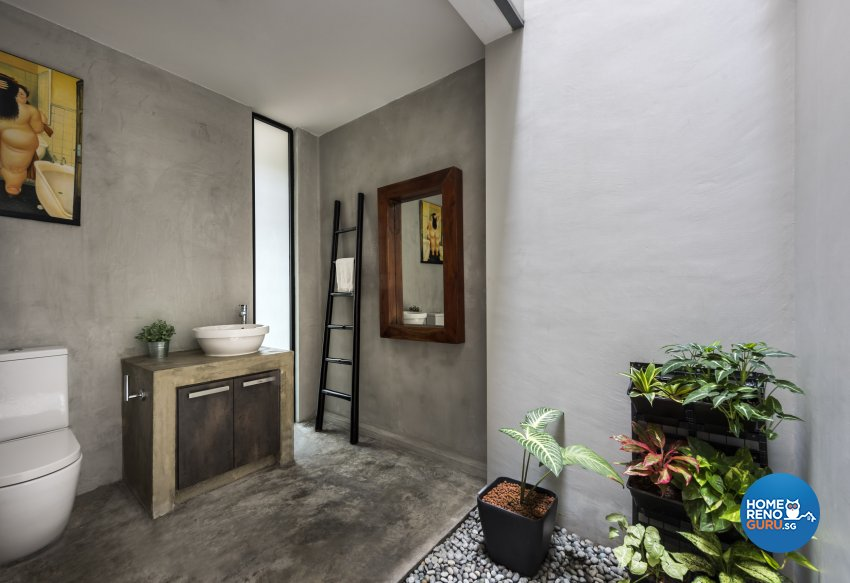 Industrial, Scandinavian Design - Bathroom - Landed House - Design by Space Vision Design Pte Ltd