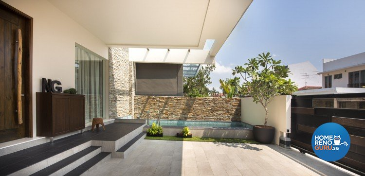 Mediterranean, Rustic, Scandinavian Design - Balcony - Landed House - Design by Space Vision Design Pte Ltd