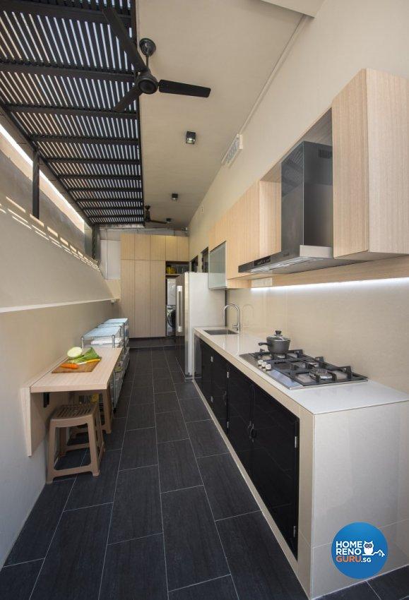 Mediterranean, Rustic, Scandinavian Design - Kitchen - Landed House - Design by Space Vision Design Pte Ltd