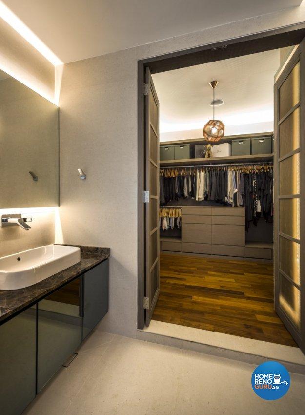 Mediterranean, Rustic, Scandinavian Design - Bedroom - Landed House - Design by Space Vision Design Pte Ltd