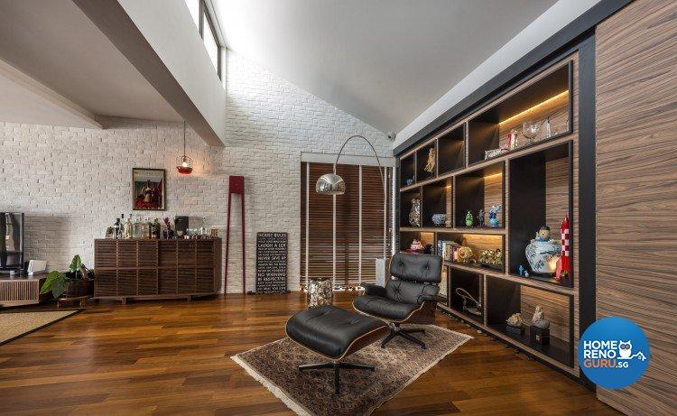 Mediterranean, Rustic, Scandinavian Design - Entertainment Room - Landed House - Design by Space Vision Design Pte Ltd