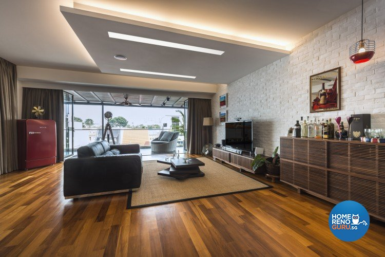 Mediterranean, Rustic, Scandinavian Design - Entertainment Room - Landed House - Design by Space Vision Design Pte Ltd