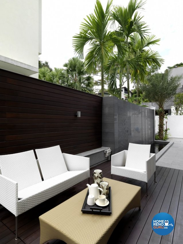 Contemporary, Modern Design - Balcony - Landed House - Design by Space Vision Design Pte Ltd
