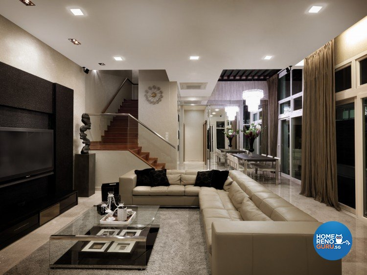 Contemporary, Modern Design - Living Room - Landed House - Design by Space Vision Design Pte Ltd