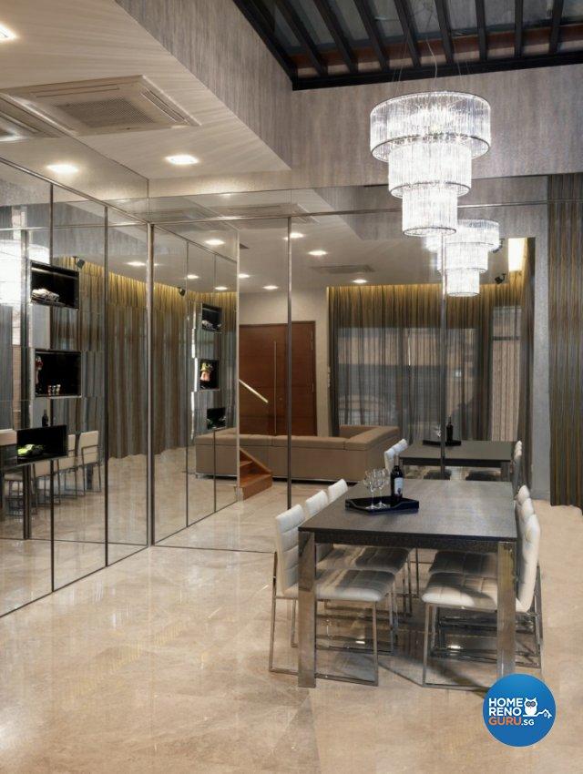 Contemporary, Modern Design - Dining Room - Landed House - Design by Space Vision Design Pte Ltd