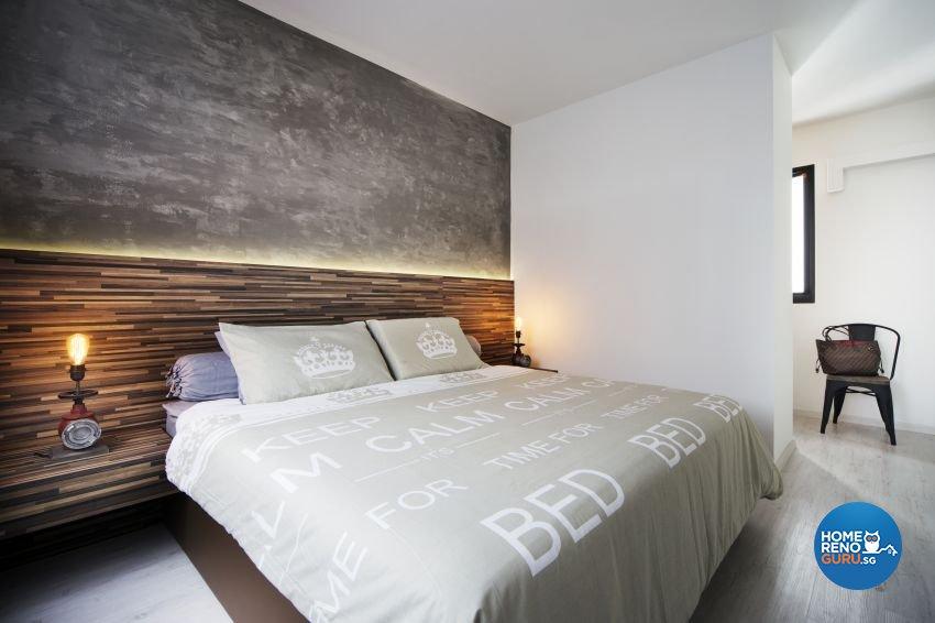 Industrial, Scandinavian Design - Bedroom - HDB 5 Room - Design by Spaces Living Concept