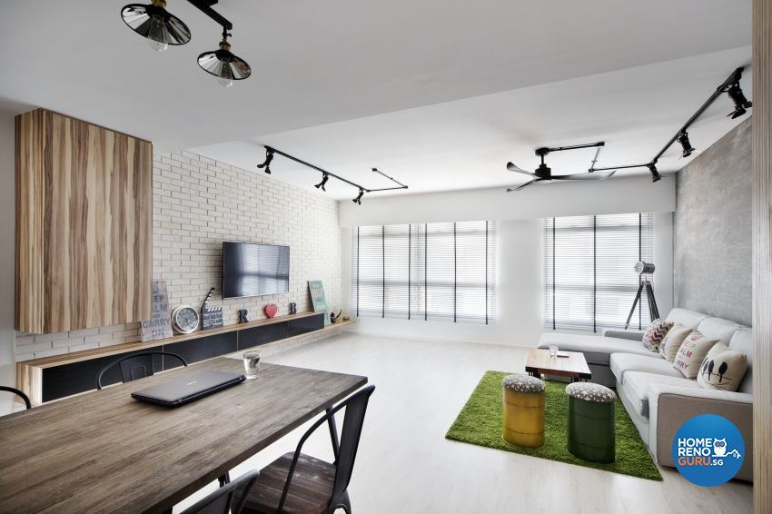 Industrial, Scandinavian Design - Living Room - HDB 5 Room - Design by Spaces Living Concept