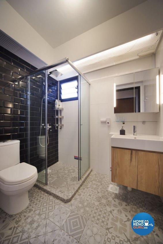 Industrial, Scandinavian Design - Bathroom - HDB 5 Room - Design by Spaces Living Concept