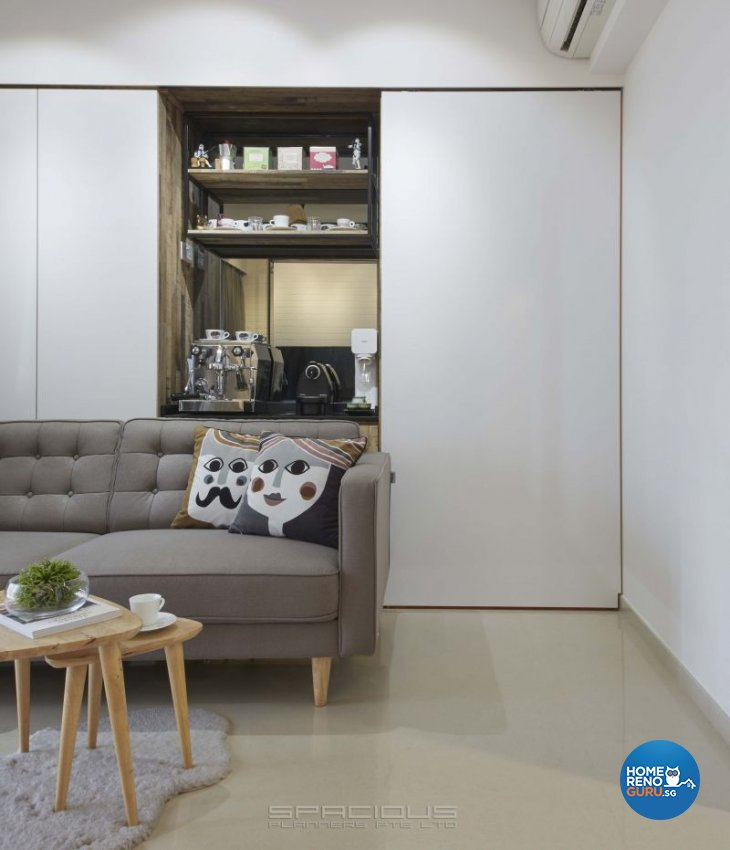 Country, Industrial, Scandinavian Design - Living Room - Condominium - Design by Spacious Planners Pte Ltd