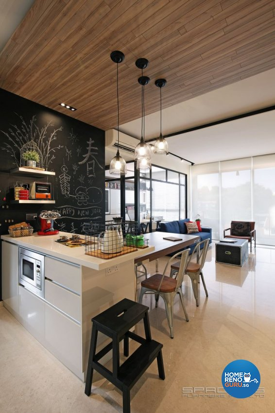 Eclectic, Industrial, Resort Design - Dining Room - Condominium - Design by Spacious Planners Pte Ltd