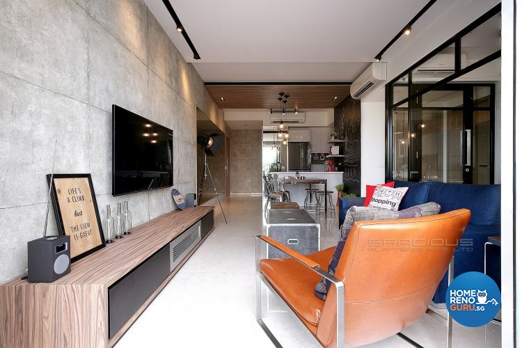 Eclectic, Industrial, Resort Design - Living Room - Condominium - Design by Spacious Planners Pte Ltd