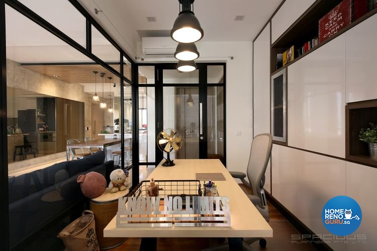 Eclectic, Industrial, Resort Design - Study Room - Condominium - Design by Spacious Planners Pte Ltd