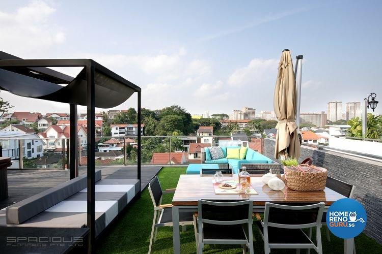Eclectic, Industrial, Resort Design - Balcony - Condominium - Design by Spacious Planners Pte Ltd