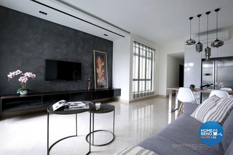 Contemporary Design - Living Room - Condominium - Design by Spacious Planners Pte Ltd
