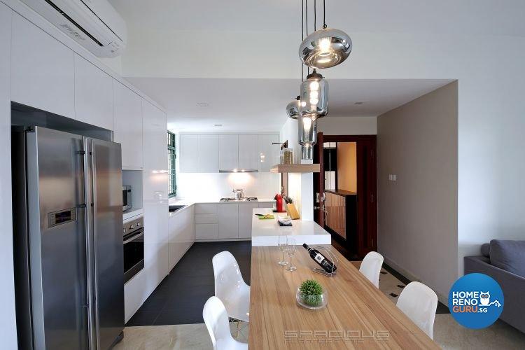 Contemporary Design - Kitchen - Condominium - Design by Spacious Planners Pte Ltd