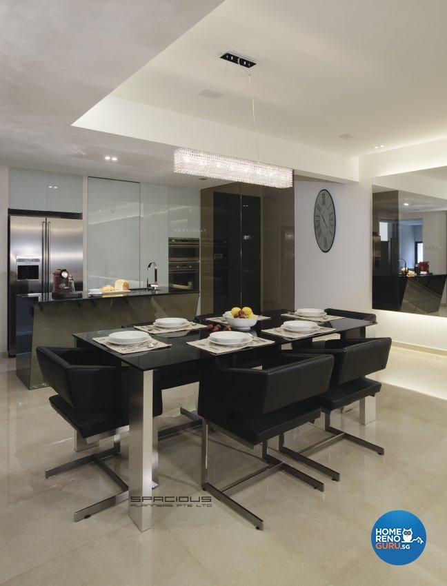 Modern, Resort Design - Dining Room - Condominium - Design by Spacious Planners Pte Ltd
