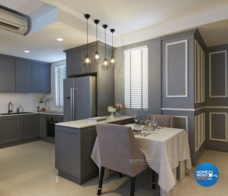 Classical, Modern, Victorian Design - Kitchen - Condominium - Design by Spacious Planners Pte Ltd