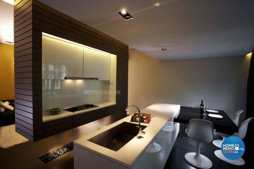 Contemporary, Modern Design - Kitchen - Condominium - Design by Spacious Planners Pte Ltd