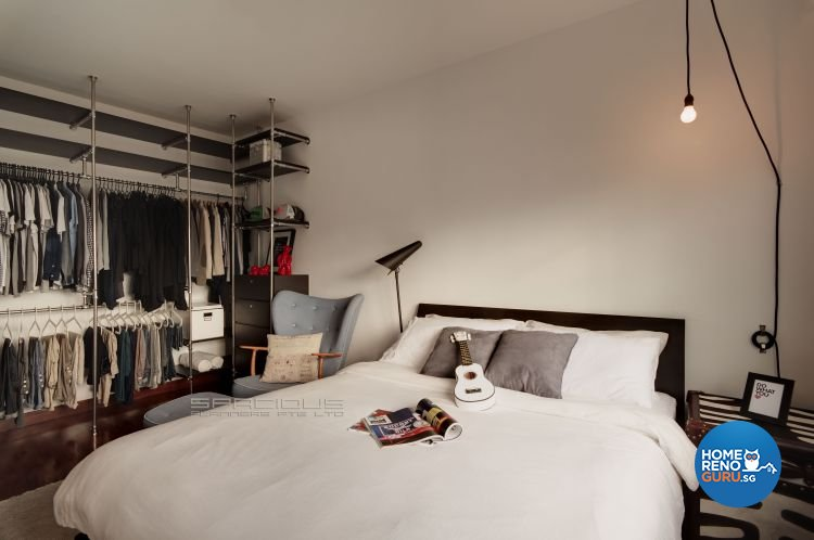 Industrial, Scandinavian Design - Bedroom - HDB 4 Room - Design by Spacious Planners Pte Ltd