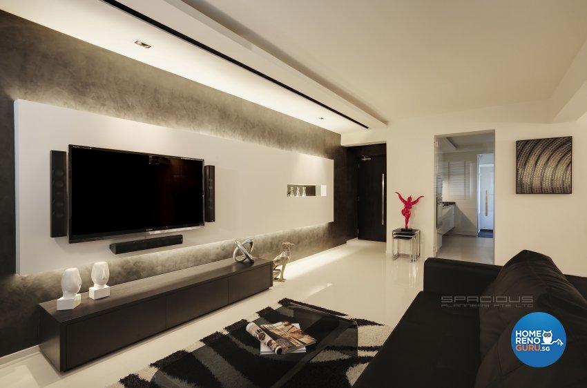 Minimalist, Modern Design - Living Room - HDB 5 Room - Design by Spacious Planners Pte Ltd