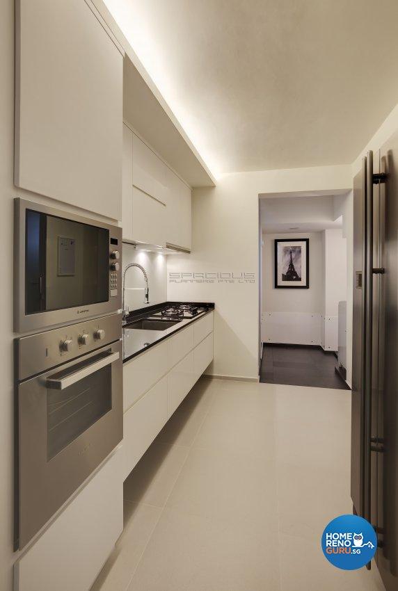 Minimalist, Modern Design - Kitchen - HDB 5 Room - Design by Spacious Planners Pte Ltd