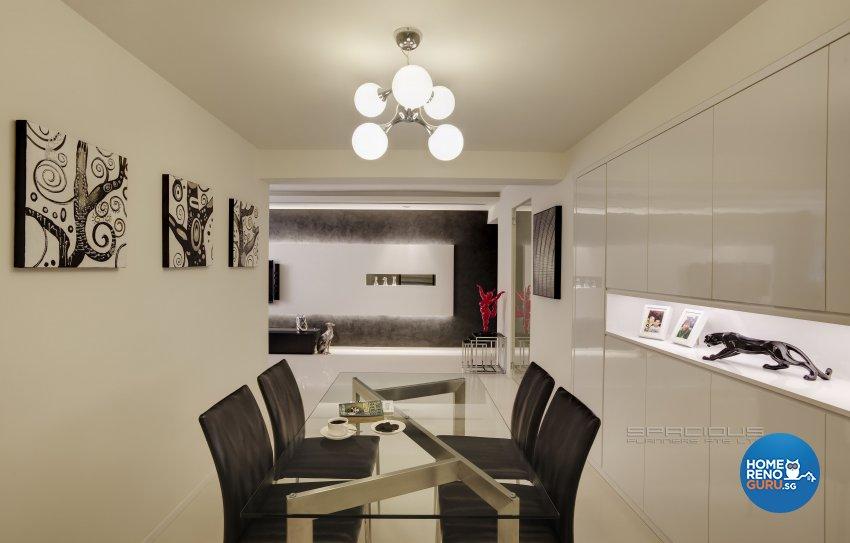 Minimalist, Modern Design - Dining Room - HDB 5 Room - Design by Spacious Planners Pte Ltd