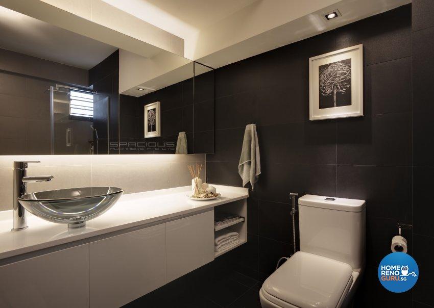 Minimalist, Modern Design - Bathroom - HDB 5 Room - Design by Spacious Planners Pte Ltd
