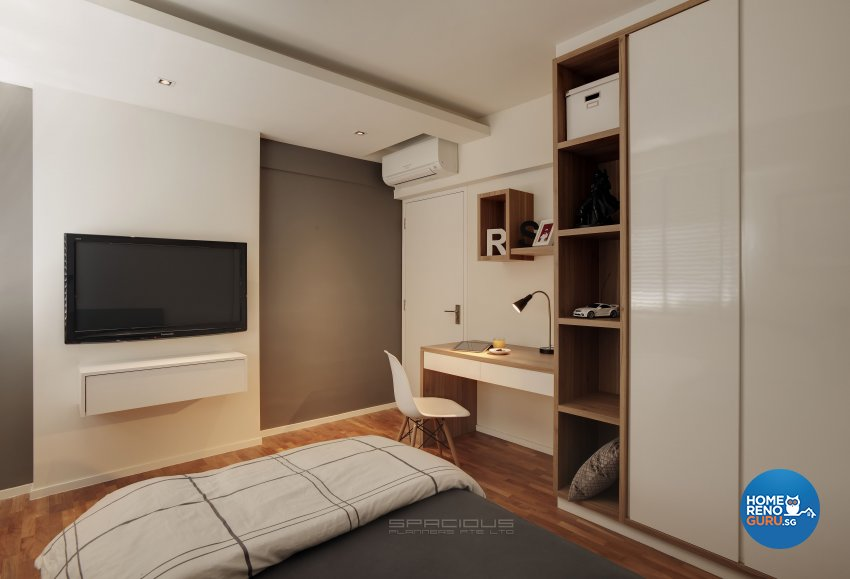 Minimalist, Modern Design - Bedroom - HDB 5 Room - Design by Spacious Planners Pte Ltd
