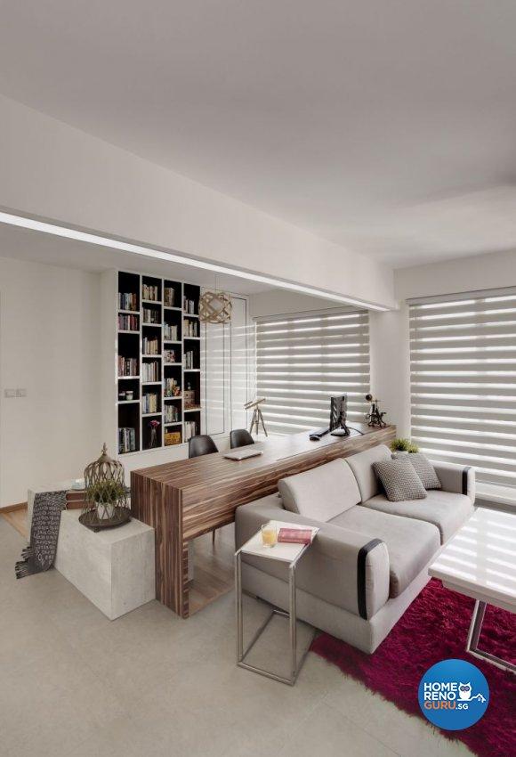 Contemporary, Minimalist, Scandinavian Design - Study Room - HDB 4 Room - Design by Spacious Planners Pte Ltd