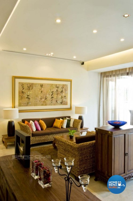 Resort, Tropical Design - Living Room - Landed House - Design by Spacious Planners Pte Ltd