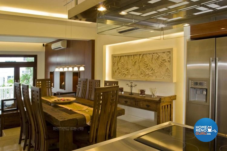 Resort, Tropical Design - Dining Room - Landed House - Design by Spacious Planners Pte Ltd