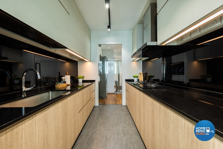 Contemporary, Modern Design - Kitchen - HDB 4 Room - Design by Spacious Planners Pte Ltd