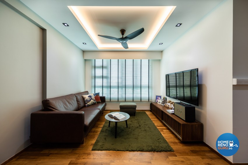 Contemporary, Modern Design - Living Room - HDB 4 Room - Design by Spacious Planners Pte Ltd