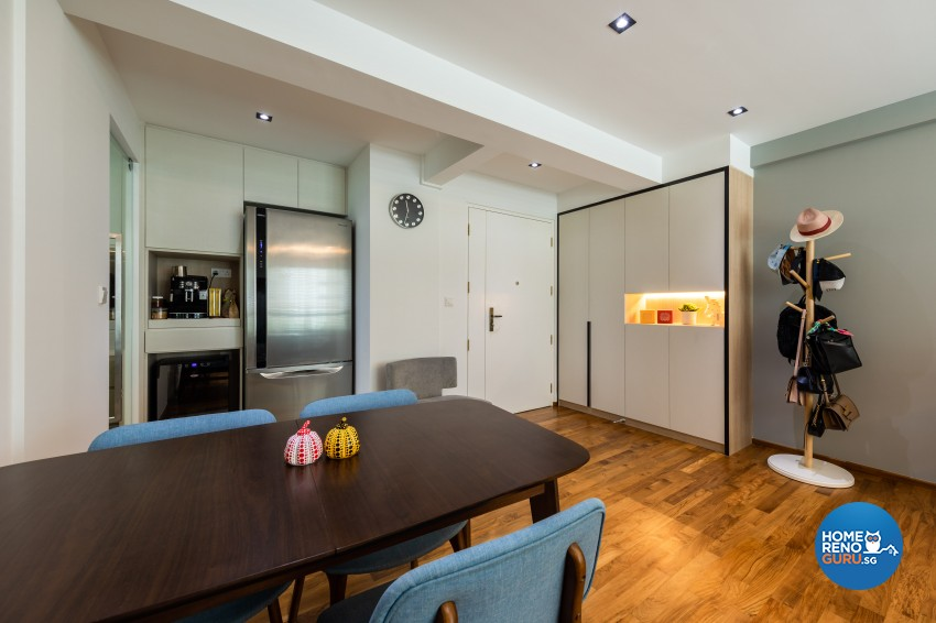 Contemporary, Modern Design - Dining Room - HDB 4 Room - Design by Spacious Planners Pte Ltd